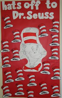 Several Dr. Seuss Bulletin Board Ideas.