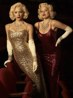 "Two rivaling actresses wanting to be Marilyn Monroe in ""Bombshell."""