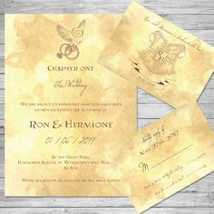 Harry Potter Wedding Invitation DIY Printable Pinterest Harry