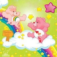 Care Bears - Cheer Bear, & Love -a-lots Bear
