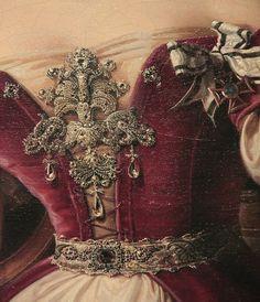 """H.F. Wiertz, """"Portrait of Marianne of Prussia"""" (detail) (1832)"""