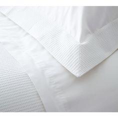 Boutique White Waffle Bed Linen. Crisp cotton bed linen. French Bedroom linen.
