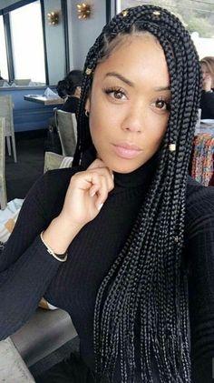 Poetic Justice Braids jumbo, Poetic Justice Braids with color, Poetic Justice Braids styles, brown P Box Braids Hairstyles For Black Women, Formal Hairstyles For Long Hair, Side Braid Hairstyles, Braids For Black Hair, Girl Hairstyles, Hair Updo, Braids For Black Women Box, Funky Hairstyles, Homecoming Hairstyles