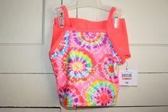 OP brand 2-piece bikini 12 months hot pink tie-dye tankini #OP #OnePiece