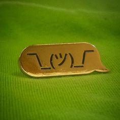 ¯_(ツ)_/¯ Forged metal lapel pin for all u confused people. ¯_(ツ)_/¯ It's just fun to look at isn't it?? ¯_(ツ)_/¯