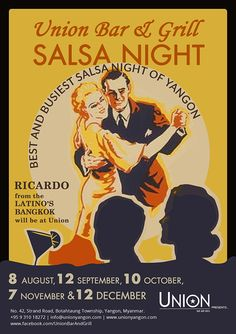 Tonight #salsa night  at #unionbarandgrill #yangon #dance #chachacha !