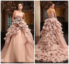 2015 New Pink wedding bridal gown dress custom size 4-6-8-10-12-14-16-18 #UnbrandedGeneric #weddingdress