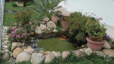 pequeno lago artificial