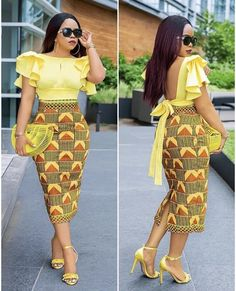 Slay in these head-turning, eye-popping ankara styles Latest African Fashion Dresses, African Dresses For Women, African Print Dresses, African Print Fashion, African Attire, Latest Ankara Dresses, Ankara Rock, Look Fashion, Fashion Outfits