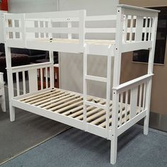 Show details for Holly King Single Bunk Bed Solid Hardwood White Malaysian Made King Single Bunk Beds, Holly King, Rubber Tree, Mattress Springs, Beds Online, Bed Frame, Glamping, Master Bedroom