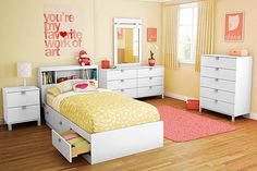 Real Bedrooms for Teenage Girls | It's a color fest! A bright blue chandelier and upholstered ...