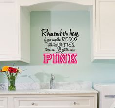 Laundry Room Ladies warning to the boys ~ Best Kitchen Cabinet Paint, Best Kitchen Cabinets, Best Flooring For Kitchen, Laundry Humor, Kitchen Wall Decals, Room Wall Colors, Kitchen Table Makeover, Industrial Style Kitchen, Small Space Organization