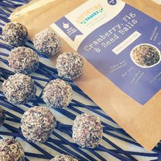 Cranberry, Fig and Seed Bliss Balls - tasty and so easy to make!  A quick healthy snack.  Great for kids lunchboxes as they're nut free!  Buy online now www.adventuresnacks.com.au