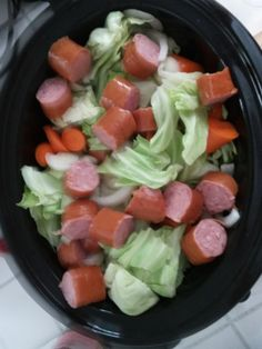 Crockpot Sausage and Cabbage Slow Cooker Kielbasa and Cabbage I've posted similar recipe already but there's so many…with variations; meaning it's really flexible…to your family's preferenc… recipes Crock Pot Recipes, Crockpot Cabbage Recipes, Cabbage Slow Cooker, Kielbasa And Cabbage, Slow Cooker Kielbasa, Crockpot Dishes, Crock Pot Slow Cooker, Crock Pot Cooking, Slow Cooker Recipes