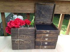 Groomsmen Gift Set Of 7 Cigar Boxes - Laser Engraved Name - Free Shipping…