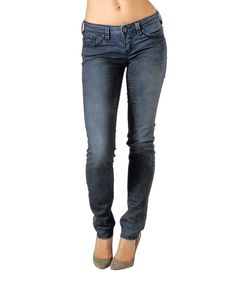 Look at this Indigo Aiko Mid-Rise Slim Jeans - Women on #zulily today!