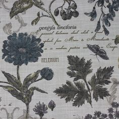 Botanical Burlap - Mosaic, Inc. : Perfect for a garden wedding or special event - this botanical pattern will surely blow your guests away!