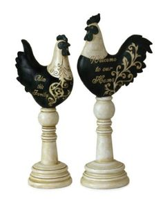 Rooster and Hen set for the kitchen