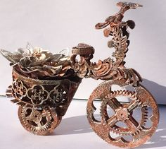 Solange Marques: Off the Page on your bike -altered bike-Imaginarium Designs