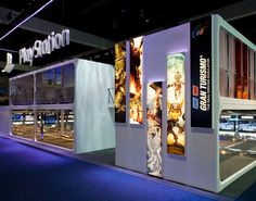 Sony PlayStation  Designed for Pinnacle Exhibits.  A 90' x 167' exhibit for E3 in Los Angeles. Winner of Exhibitor Magazine's bronze award. PlayStation leads the gaming industry, a point made each year at the Electronics Entertainment Expo.