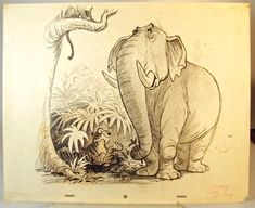Ken Anderson concept art for The Jungle Book