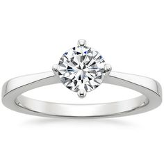 18K White Gold True North Ring from Brilliant Earth