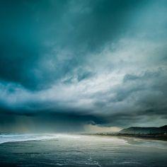 Beach Clouds - Muriwai Beach, New Zealand