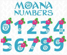 Moana numbers svg png Moana font svg png Disney Moana font Princess font svg Disney princess font svg Files for Silhouette Files for Cricut Moana Birthday Party Theme, Moana Themed Party, Moana Party, Luau Birthday, 1st Birthday Parties, Princess Font, Disney Princess, Moana Font, Anniversaire Wonder Woman