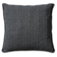 Pillow 50x50 - 6x6Rib AZ antra by Knit Factory www.knitfactory.nl