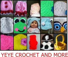 yeye crochet and more/Homemade crochet, two needles  Photo Props...and more