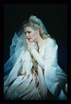 "Karita Mattila as Elsa in ""Lohengrin,"" SF Opera, 1996"