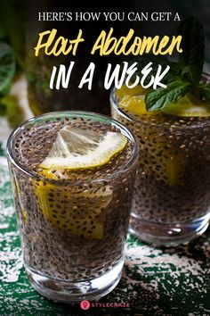 Consume A Mixture Of Chia With Lemon And You Will Get a Flat Abdomen In 1 Week -… – Healthy Drinks Weight Loss Drinks, Weight Loss Smoothies, Chia Seed Recipes For Weight Loss, Healthy Drinks, Healthy Recipes, Healthy Eating, Healthy Foods, Healthy Detox, Drink Recipes