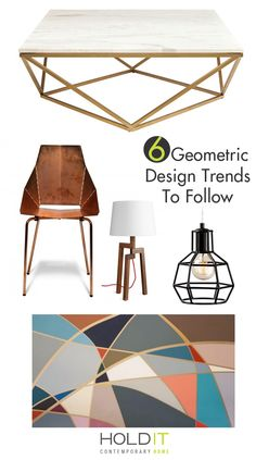 6 Geometric Trends You Should Be Following!  We love the direction design is taking with this geometric trend.  Everything from Geometric Artwork to Geometric Dining Chairs will keep your living space fun and memorable.  Bright geometric shapes bring life to any space.  Come see one of our Design Consultants at Hold It Contemporary Home in San Diego for advice and a professional opinion!  You can also check out our interactive website for design inspiration.