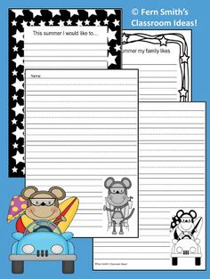 Fern Smith's Classroom Ideas!: Fern's Freebie Friday ~ End of the Year Classroom Stationery