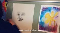 Spirit portrait by Psychic Artist and Medium Janette Oakman  Drawn Using Charcoal Willow Sticks