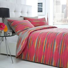Pink 'Jensen' diamond striped bed linen - Betty Jackson Black - Duvet covers & pillow cases - Bedding - Home & furniture -