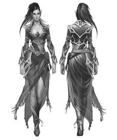 Concept Art / Costume Design for a computer game development.