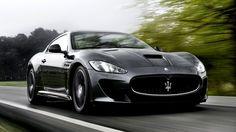 Black #Maserati GranTurismo MC Stradale Sports Car 2013 HD Wallpaper