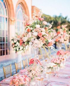 Linens by the Sea / Lamour Blush / Ringling Courtyard / Sarasota, FL / www.linensbythesea.com