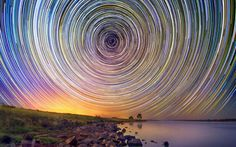 Amazing star trails over the Australian Outback by Lincoln Harrison