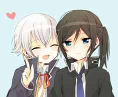 Isana Yashiro and Kuroh