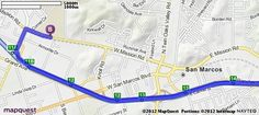 Driving Directions from North Broadway School in Escondido, California 92026 to Palomar College in San Marcos, California 92069 | MapQuest