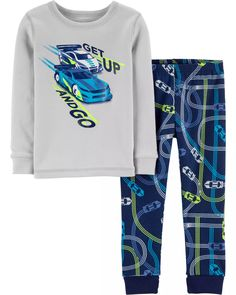 Kids Nightwear, Boys Sleepwear, Boys Pjs, Boys Pajamas, Cotton Pyjamas, Toddler Boys, Boy Fashion, Snug Fit, Race Cars