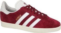 Mens Adidas Originals Gazelle Suede Trainers - Burgundy/White/Gold - S76220 #Adidas #Originals