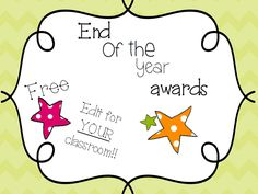 Download these FREE classroom certificates for your end of the year celebrations. You can edit each certificate to meet the needs of your individual students and school. Award students for their progress and achievements before saying farewell to this school year.