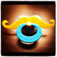 For hipster baby, now there is a mustache pacifier #hipster