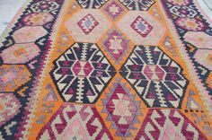 bohemian rugs aztec rugs purple kilim rug by kayakilims on Etsy