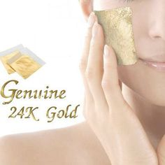 300 sheets 24k 100% pure gold leaf facial mask 30x30 mm anti-aging spa mask by ourcraft on Etsy