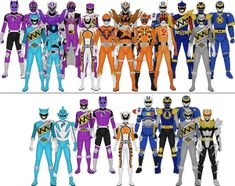 Power Rangers Lost Galaxy, Power Rangers Jungle Fury, Power Rangers Time Force, Power Rangers Turbo, Power Rangers Comic, Power Rangers Mystic Force, Power Rangers Ninja Storm, Power Rangers In Space, Power Rangers Samurai