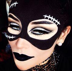 Cat woman makeup